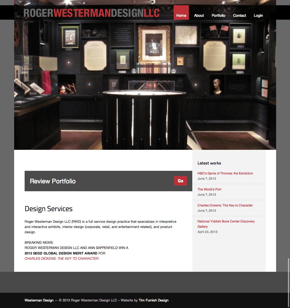 Roger Westerman Design web site