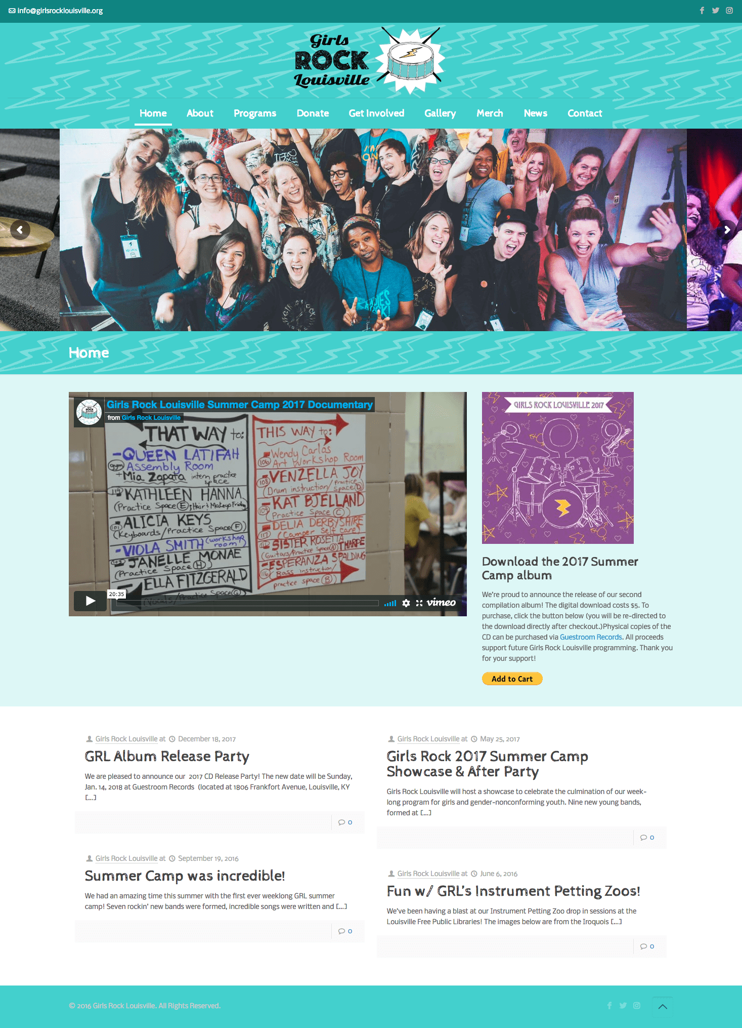 Girls Rock Louisville web site